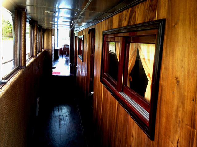inside mekong cruiser