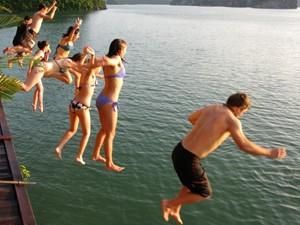 swimming_in_ha_long_bay